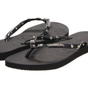 Havaianas Slim Skull Studded Hardware Sandals